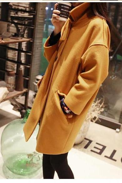 Autumn and Winter Woolen Coat for Women