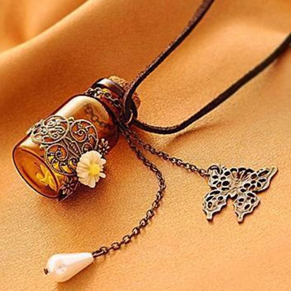 Cute Retro Wish Bottle Nekclace