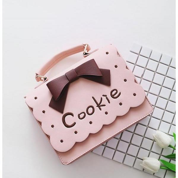 High Quality Cute PU Leather Handbag with Bow