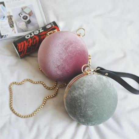 Chic Round Shaped Evening Bag Shoulder Bag