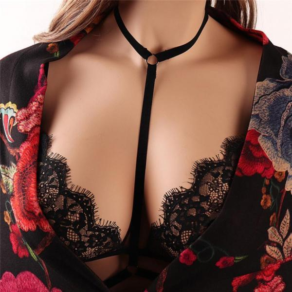 Sexy Black Hollow Out Lace Bra