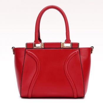 Elegant Red Tote Fashion Handbag