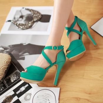 Stylish Cross Strap High Heel Sandals