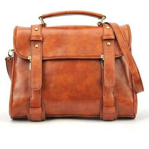 Classy Brown Messenger Bag with Straps