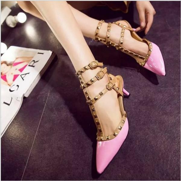 Gorgeous Rivet High Heels Fashion Shoes