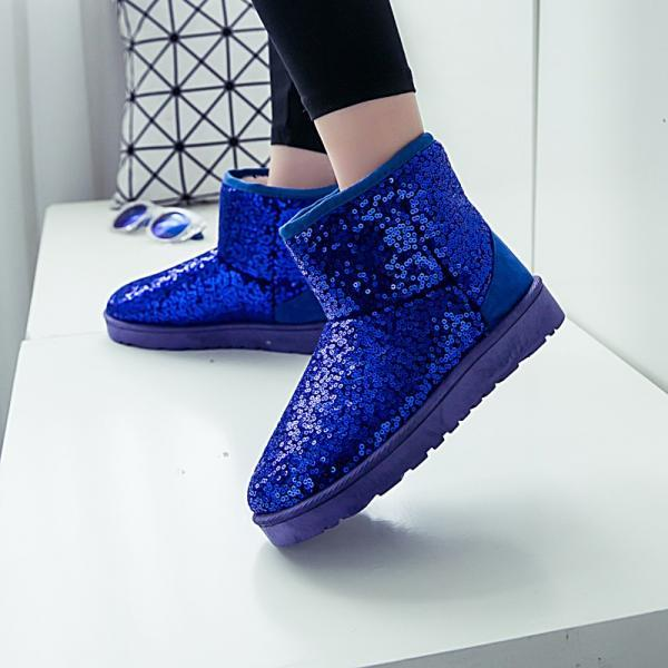Winter Snow Boots Bling Glitter Women Ankle Boots