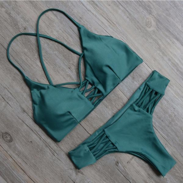 Sexy Green Two Piece Swimsuit